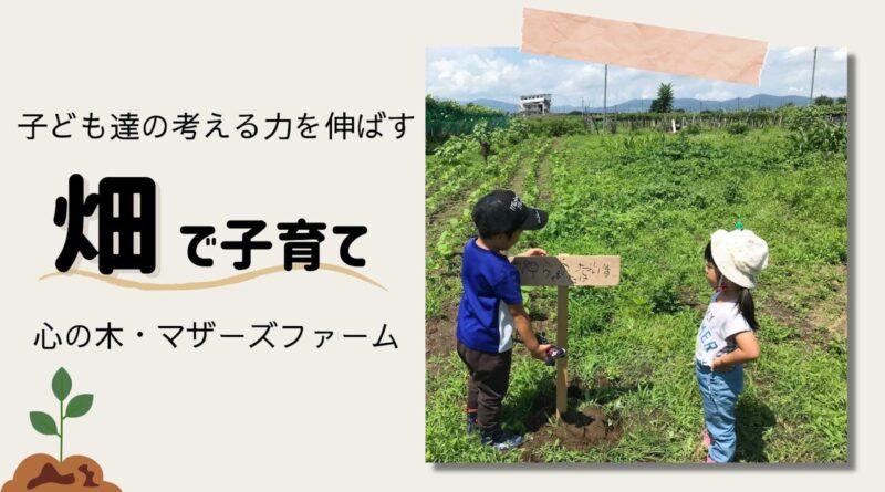 子どもたちの考える力を伸ばす「畑で子育て」~心の木・マザーズファーム~