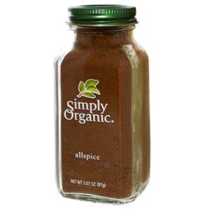 Simply Organic, オールスパイス 、 3.07オンス (87 g)