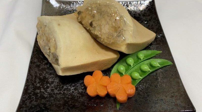 高野豆腐のテンペ詰め