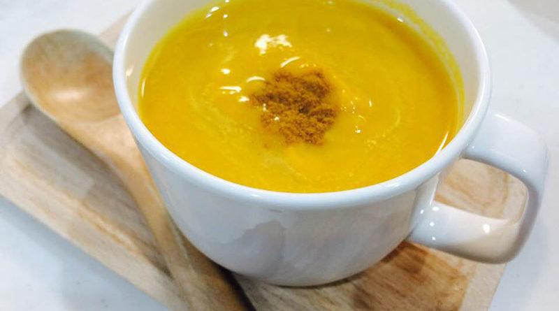 南瓜と林檎のデザートスープ