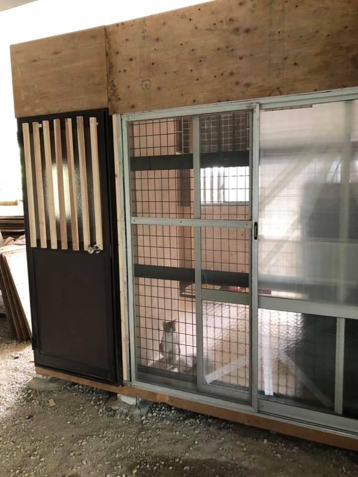 立花高校にある動物の保護小屋