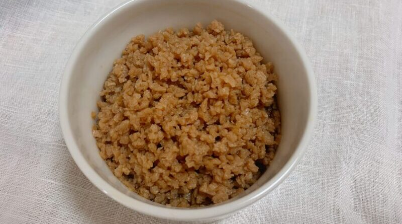 【簡単作り置き】基本の大豆そぼろ