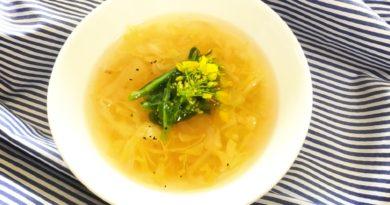 新玉ねぎとキャベツのスープ