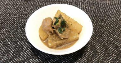 大豆ミートと大根の煮物