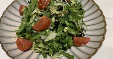 春菊とキャベツのサラダ