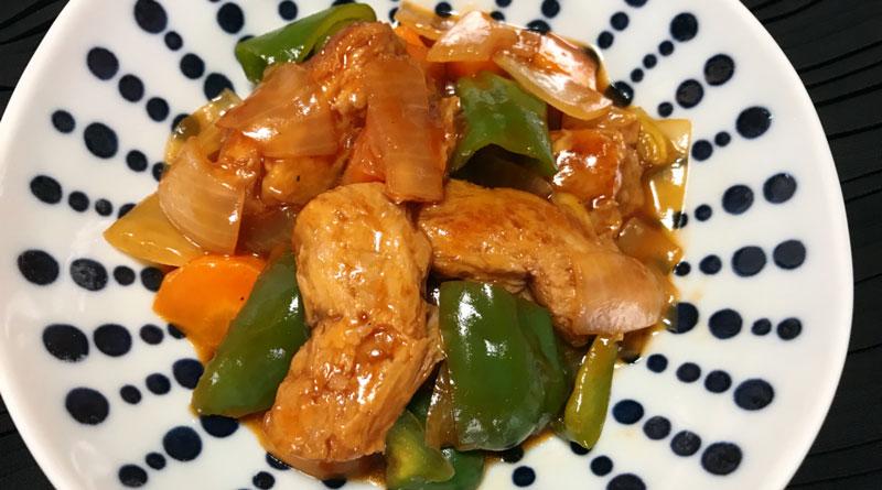 大豆ミートの酢豚風